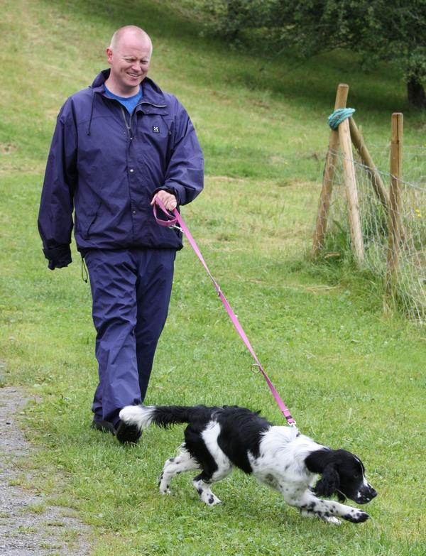 hund vil ikke gå tur