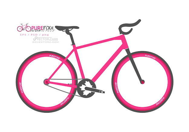Pure Fixie  Iconicycle Free Bike Vector