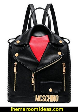 Motorcycle Jacket Backpack Handbag  Bags - Handbags and More Bags! - shoulder bags - unique bags - evening bags - wallets - fashion bags - luggage - backpacks -  purse jewelery - novelty Kitsch  bags
