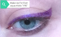 Make Up For Ever AquaMatic waterproof eyeshadow sticks i-90 purple eyeliner mufe