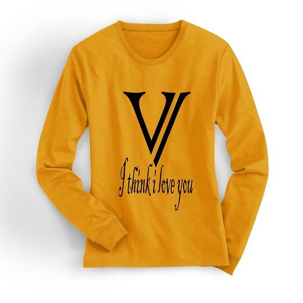 Yellow sweatshirtt
