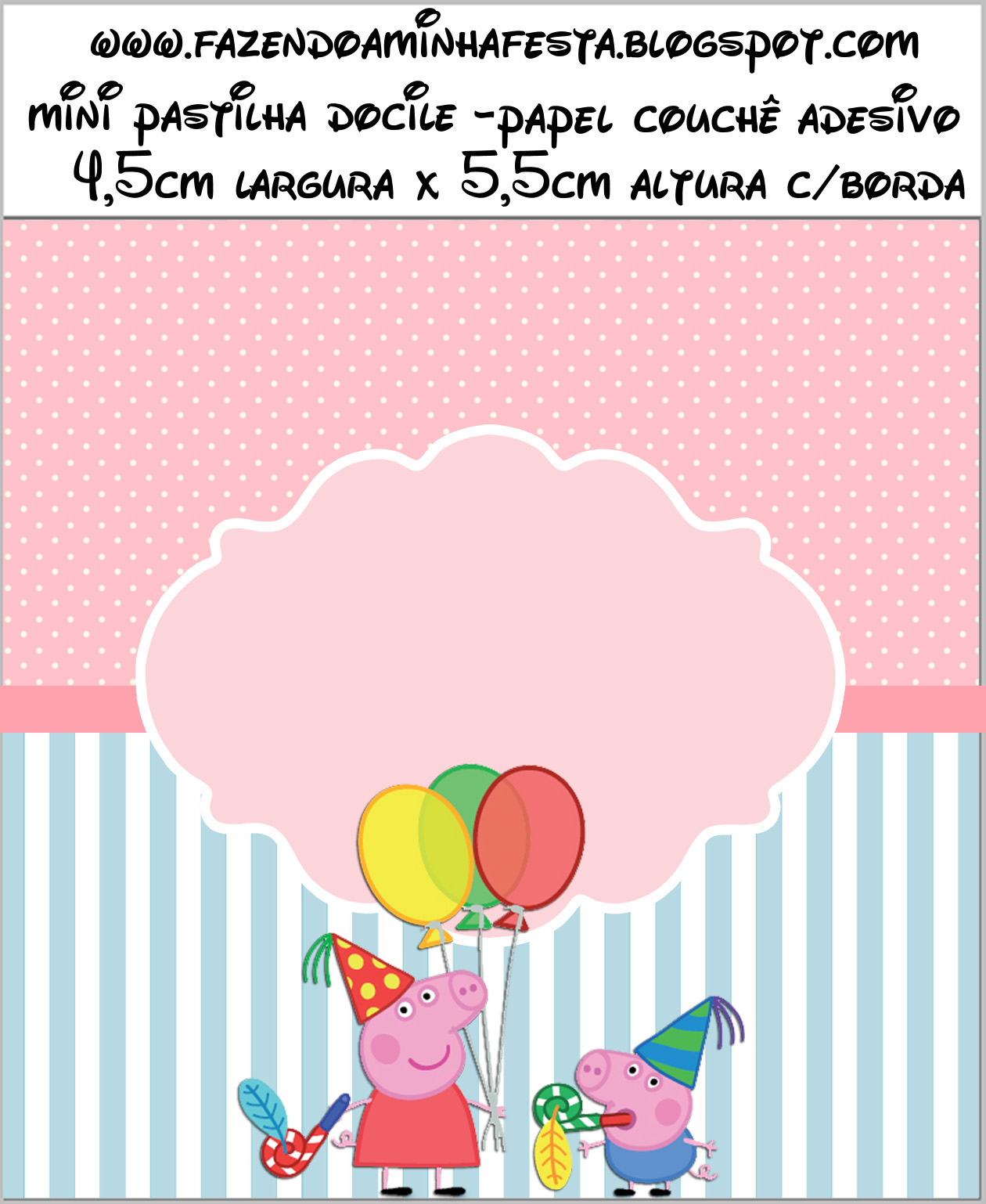 Peppa Pig: Free Printable Labels and Toppers.   Oh My ...