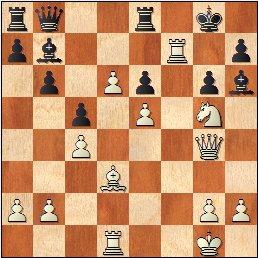Partida de ajedrez Llorens vs. Ingelmo, posición después de 23.Dg4