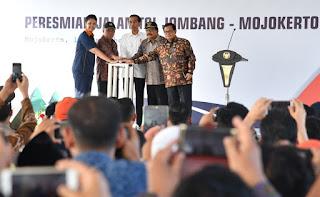 presiden Resmikan Tol Jombang Mojokoerto