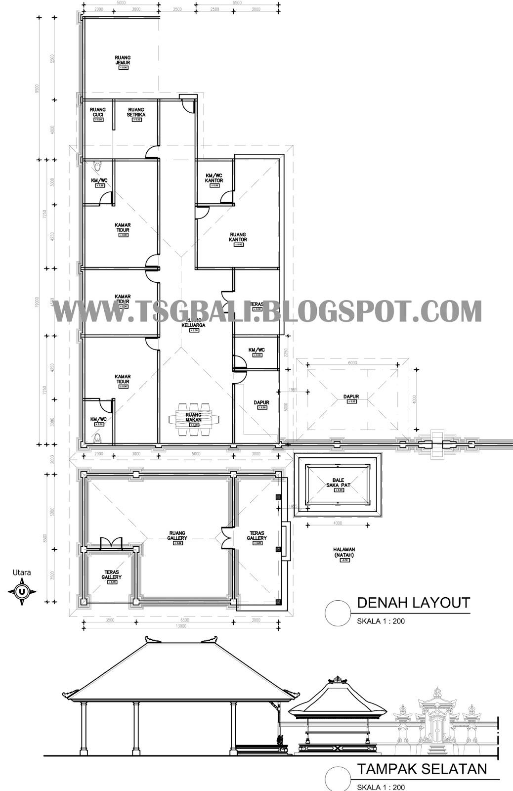 Download Gambar Mewarnai Rumah Adat Padang