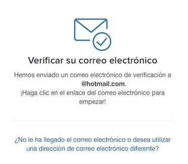 Verificar correo electrónico registro en coinbase