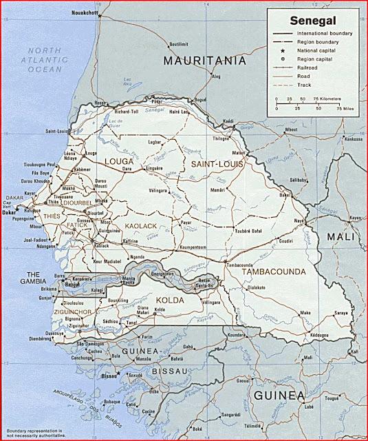 Gambar Peta Politik Senegal