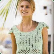 Blusa y Falda a Crochet y Knitting o Dos Agujas