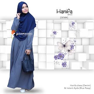 Gamis Yasmeera Hanifa Dress Denim