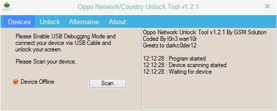 GANGNI FLASH HOME: Oppo Network Unlock Tool v1 2 1 0 download free