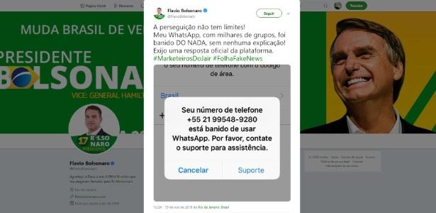 Flavio Bolsonaro reclamando do WhatsApp e confessando milhares de grupos