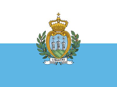 Logo Gambar Bendera Negara San Marino PNG JPG ukuran 400 px