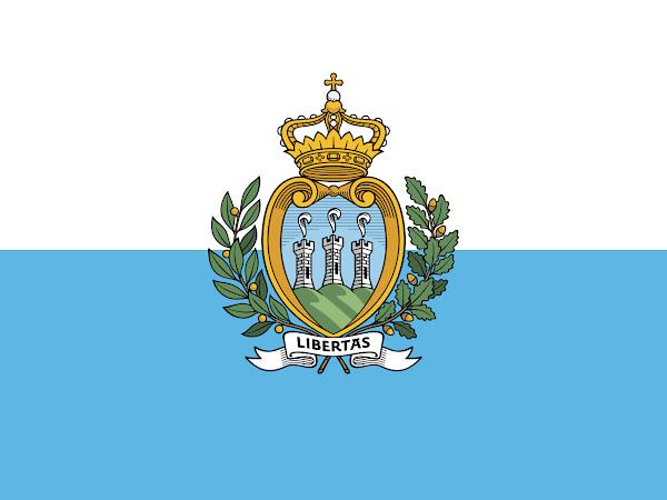Logo Gambar Bendera Negara San Marino PNG JPG ukuran 600 px