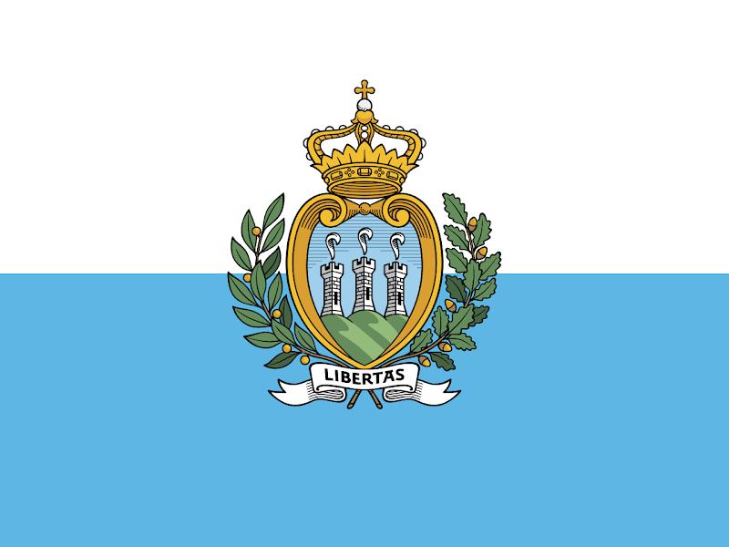 Logo Gambar Bendera Negara San Marino PNG JPG ukuran 800 px