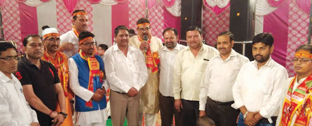 Kshatriya leader Kunwar Umesh Bhati took the blessings of Mother God took place in Jagran of Uttarakhand cultural platform