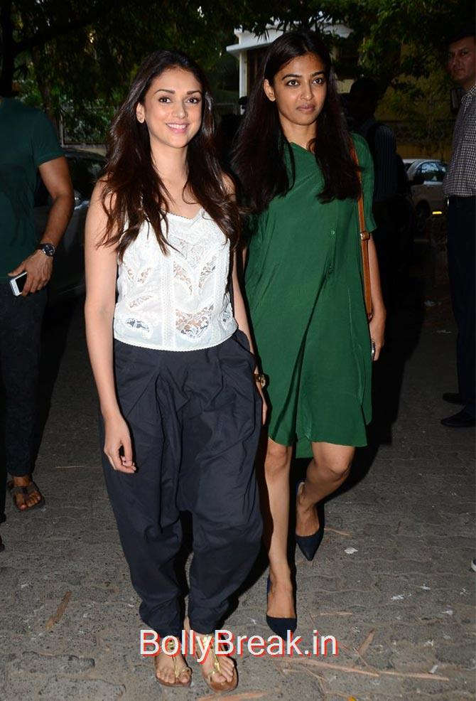 Aditi Rao Hydari, Radhika Apte., Anushka Sharma Hot Pics At Bombay Velvet screening