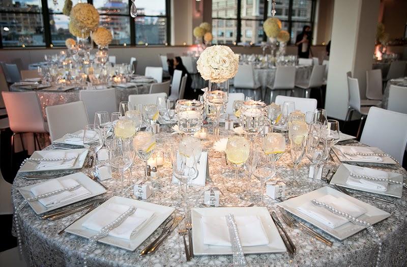 """silver Partecipazioni """"Romantiche Atmosfere"""" personalizzate per L&RColore Argento Colore Bianco Tema cuori"""