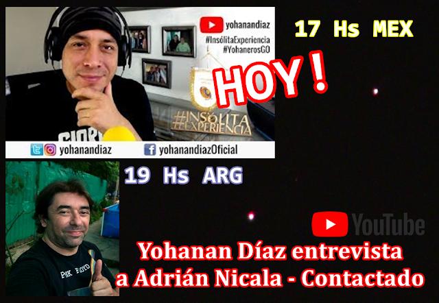 YOHANAN DÍAZ ENTREVISTARÁ A ADRIÁN NICALA HOY A LAS 19 HS!