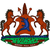 Logo Gambar Lambang Simbol Negara Lesotho PNG JPG ukuran 200 px