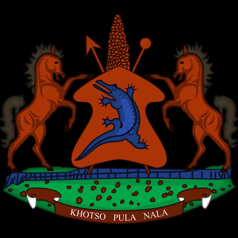Logo Gambar Lambang Simbol Negara Lesotho PNG JPG ukuran 800 px