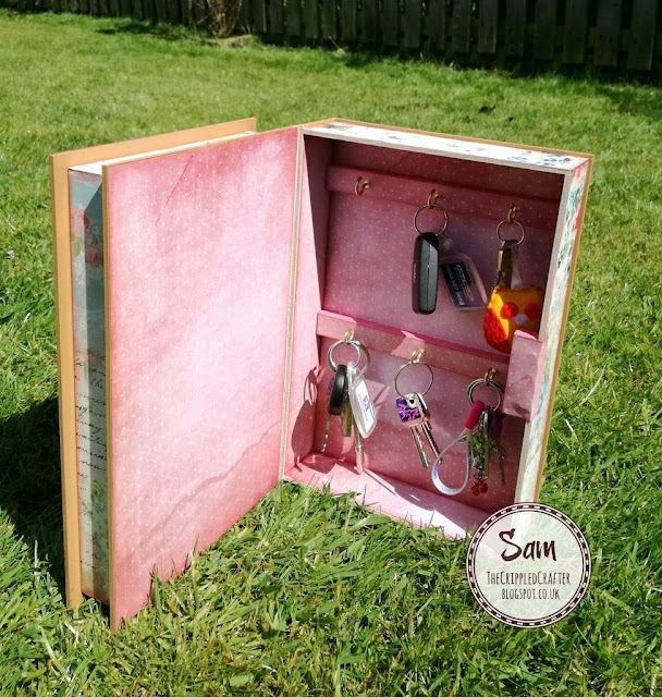 Secret Key Cubby by Sam Lewis AKA The Crippled Crafter. Featuring MDF by Daisy's Jewels & Crafts.
