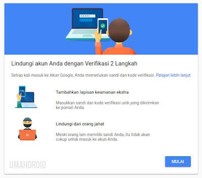 Setting Verifikasi 2 Langkah Google