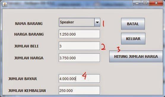 Program Java Sederhana Transaksi Dengan Netbeans Gui Uniq O Ilmu Komputer