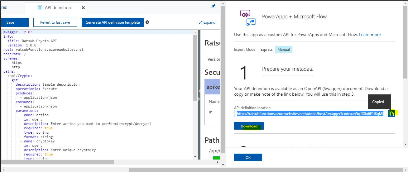 Create and configure custom connectors for PowerApps and