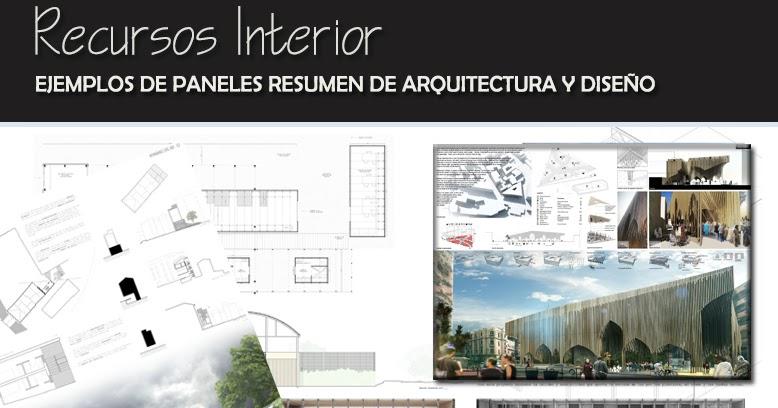 Ejemplos de paneles resumen de arquitectura y dise o for Arquitectura y diseno interior