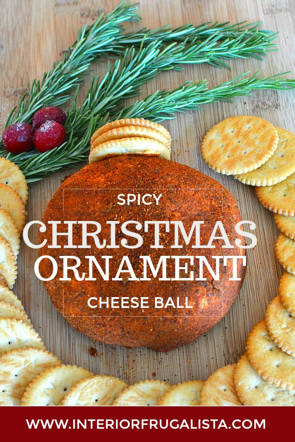 Christmas Cheese Ball.Spicy Christmas Ornament Cheese Ball