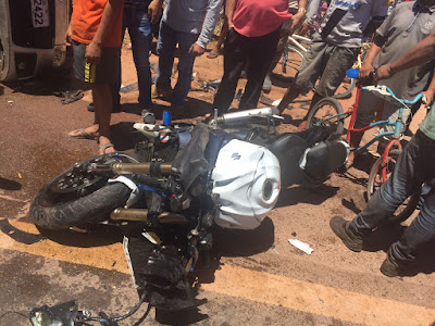 MOTOCICLISTA MORRE EM GRAVE ACIDENTE DE TRÂNSITO NA BR 222