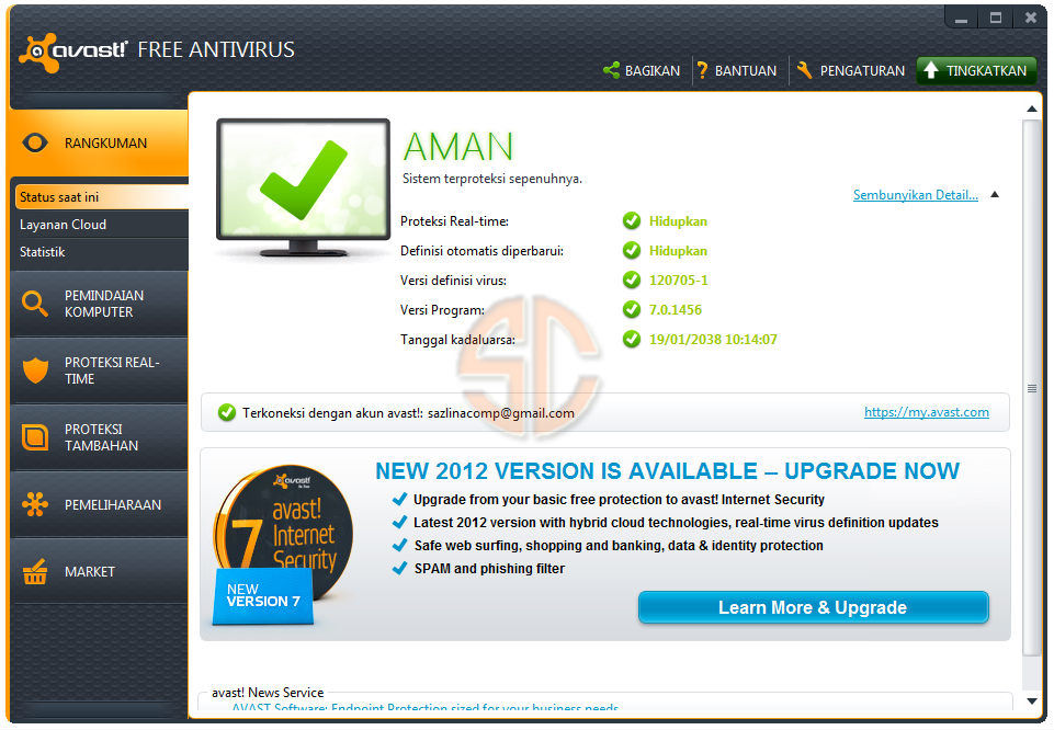 SCARICA LICENZA AVAST INTERNET SECURITY