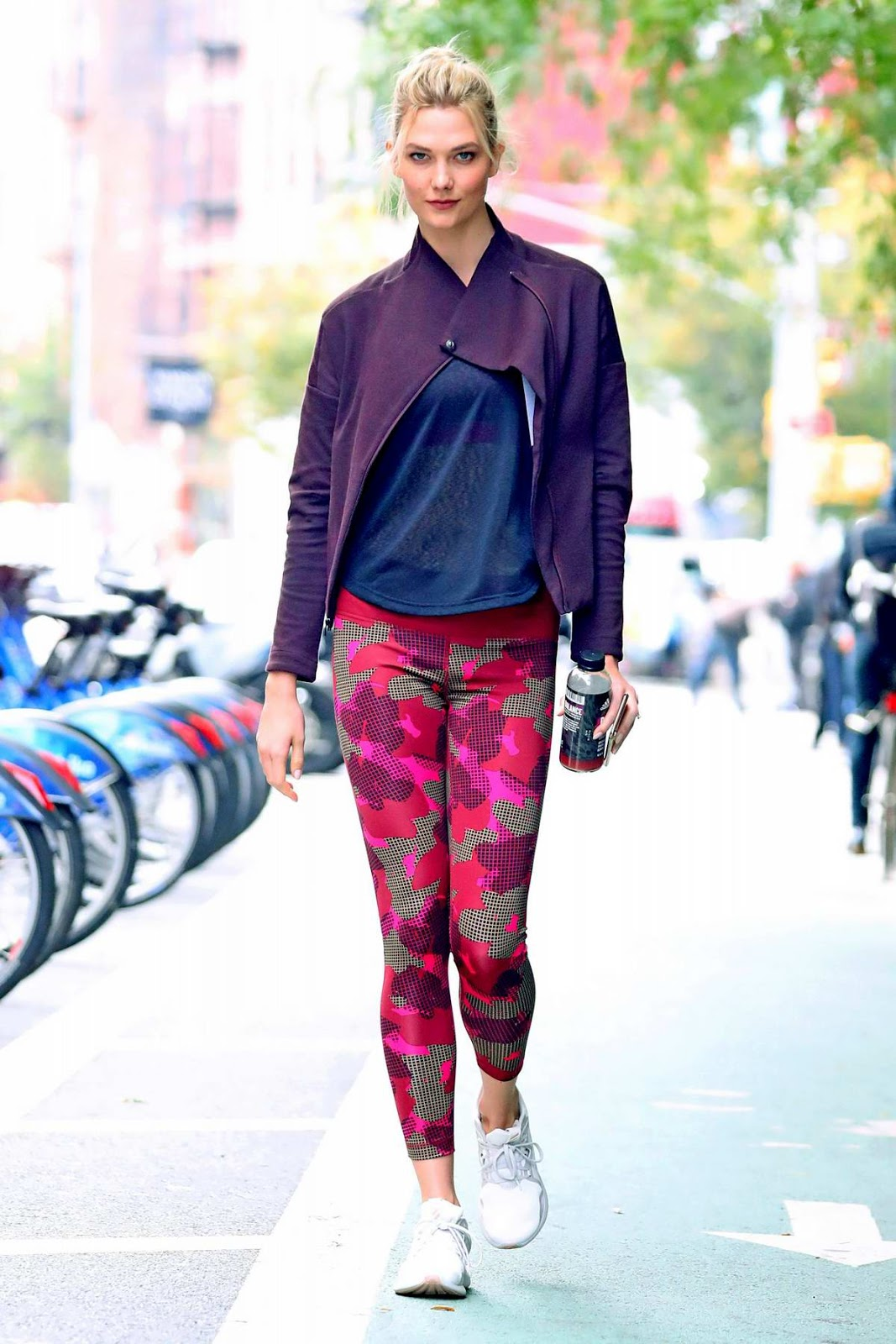 Karlie Kloss Style Out In Adidas Workout Gear In New York City