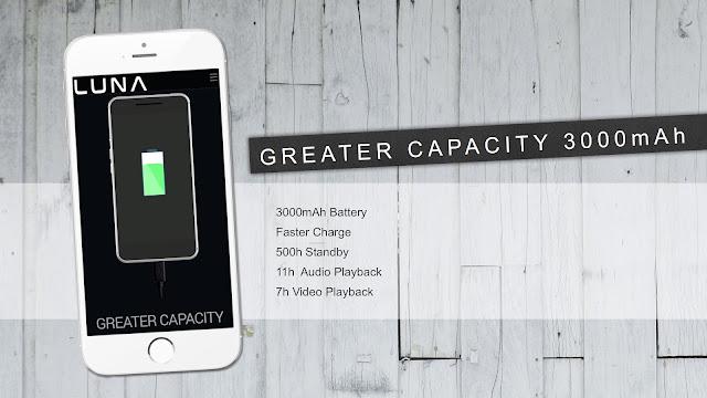 Baterai Smartphone Luna Daya Tahannya Lama dan Kapasitasnya Besar