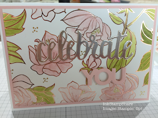 Celebrate You card with Springtime Foils DSP Stampin Blends