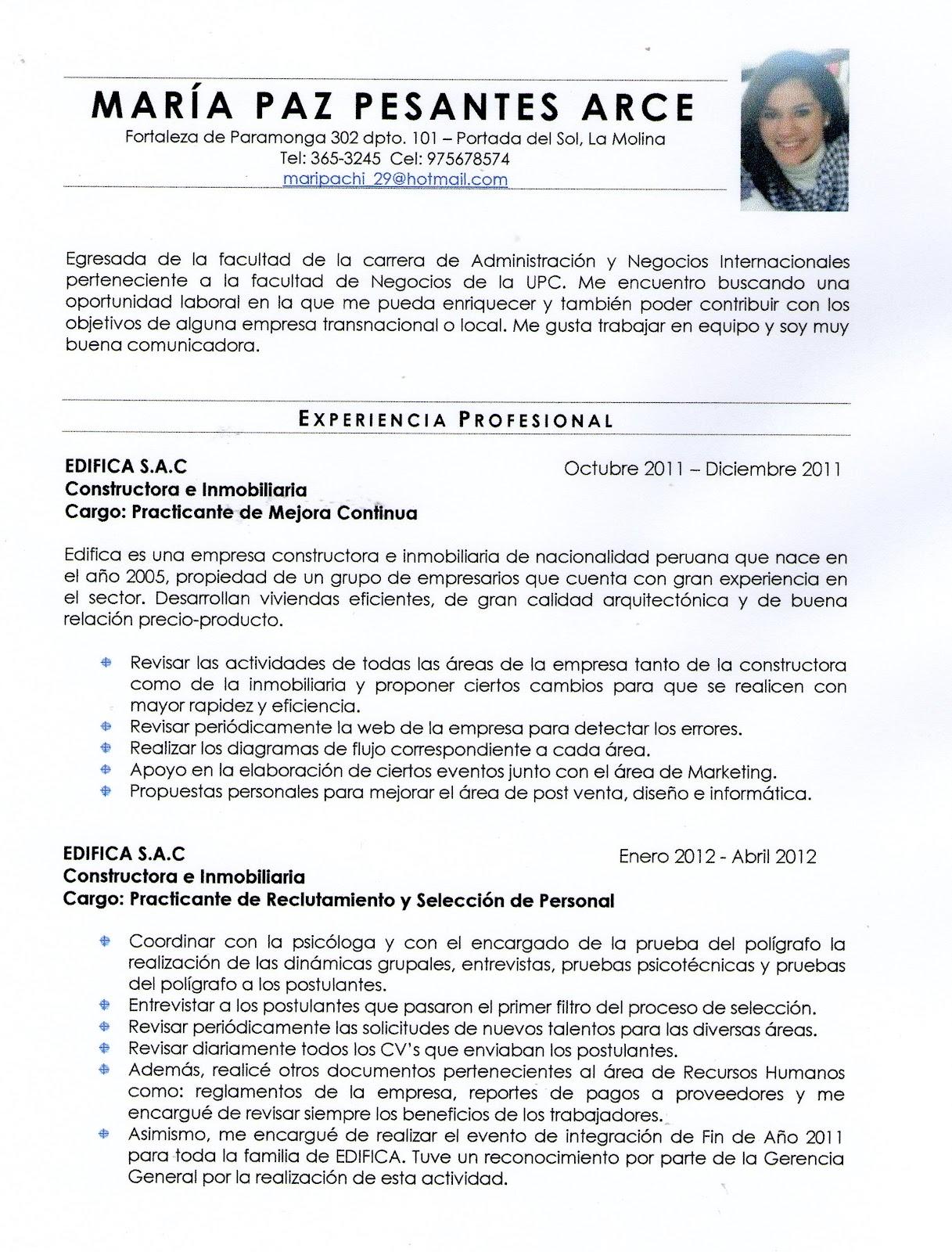 Liderazgo Y Desarrollo Profesional Curriculum Vitae Por Logros