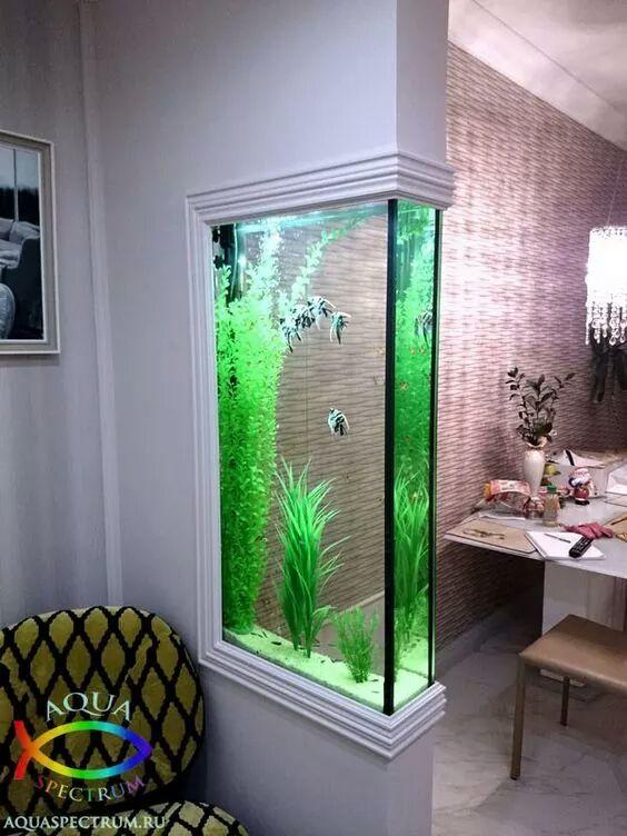 Dise os de peceras modernas decoraci n del hogar dise o de interiores c mo decorar design - Pecera de pared ...