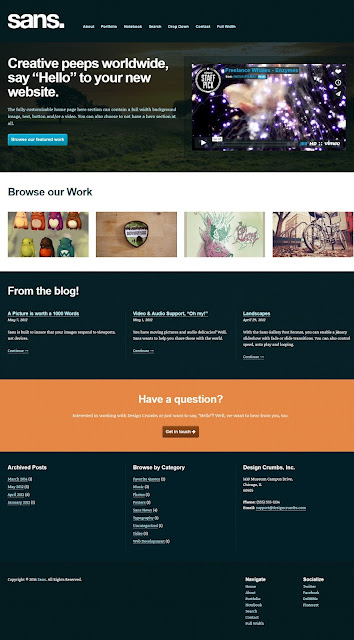 Sans- Responsive WordPress Tumblr Portfolio Theme