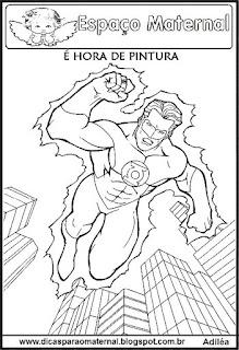 Desenho de The Flash para colorir