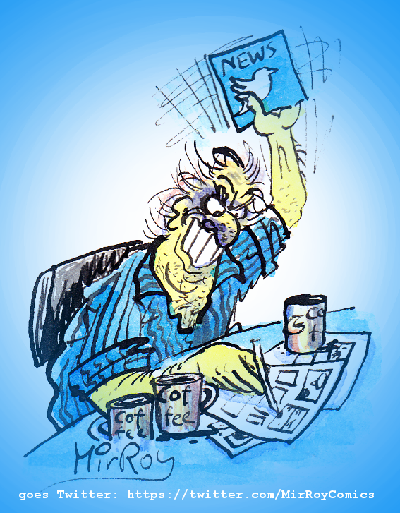 Austrian comic-strip artist Mir Roy now on Twitter