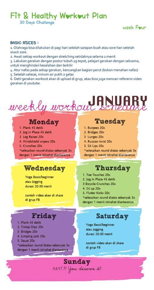 Workout Plan untuk Minggu Terakhir