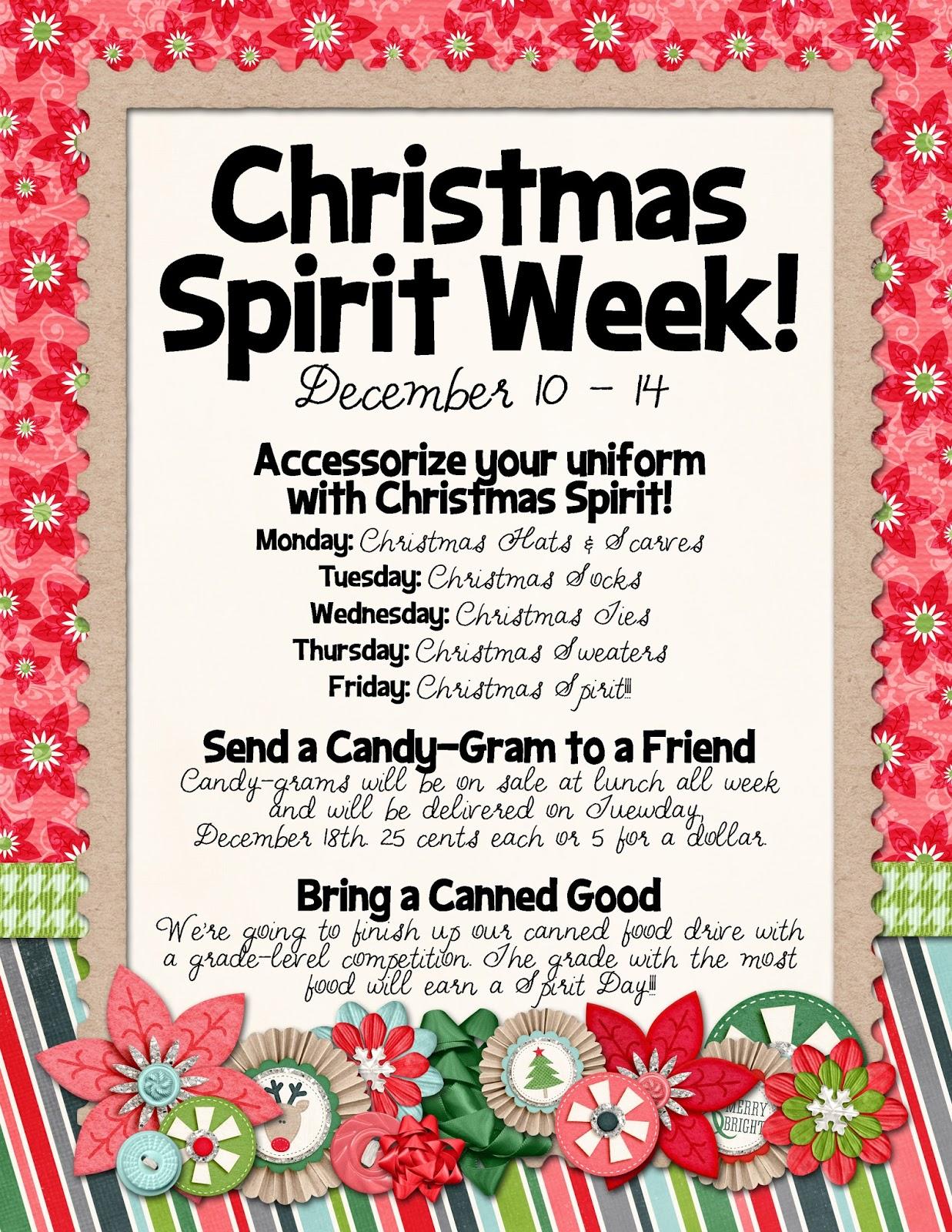 Christmas Spirit Week Ideas School.Christmas Week Banner Related Keywords Suggestions