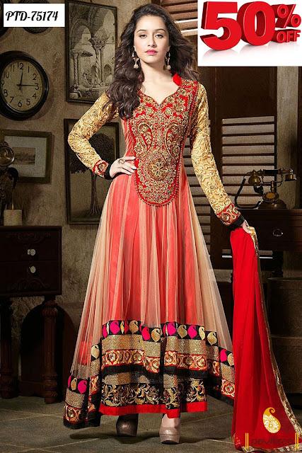 Shradhha Kapoor Designer Anarkali Dress Online Shopping