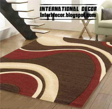 Brown And Red Rug Style Contemporary Modern Model Picture