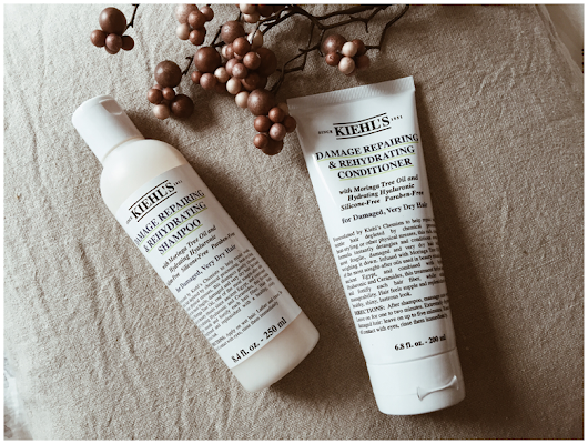 JUNE GOLD: HAIR: KIEHL'S DAMAGE REPAIRING & REHYDRATING SHAMPOO & CONDITIONER