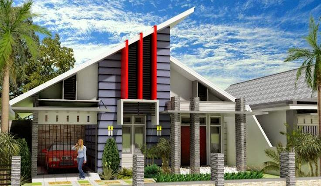 Desain Atap Rumah Minimalis Gaya Miring