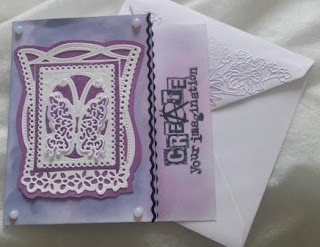 "Create your Imagination Dragonfly panel 6"" card with envelope"