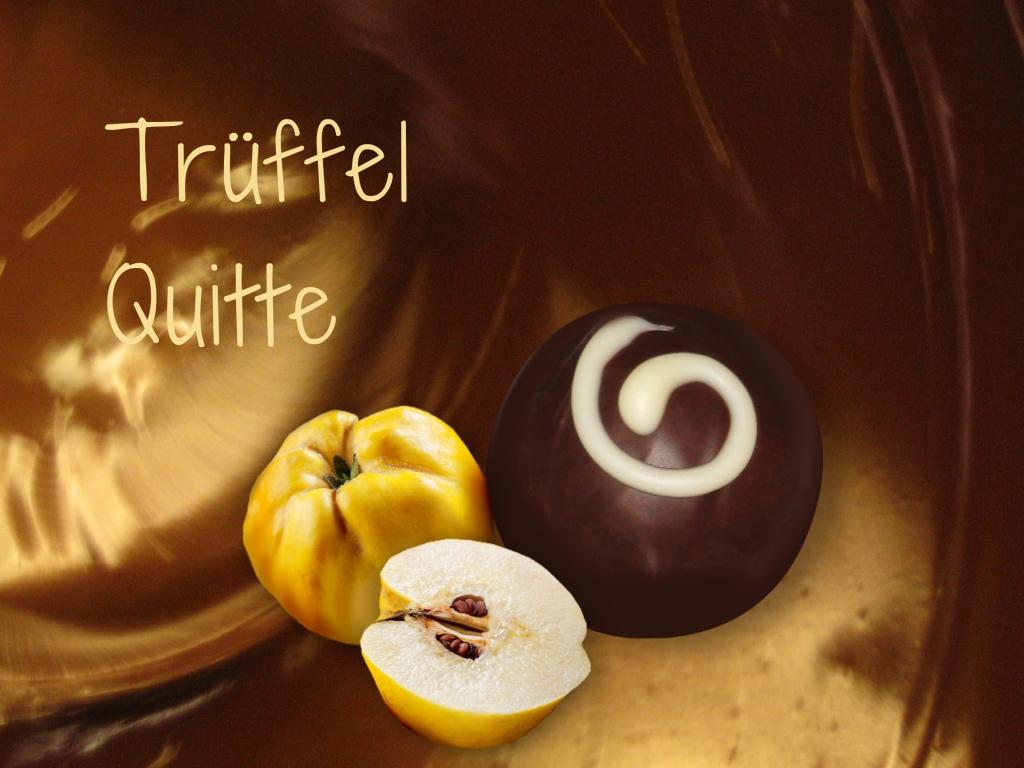 Schokoladenmund Trüffel Quitte