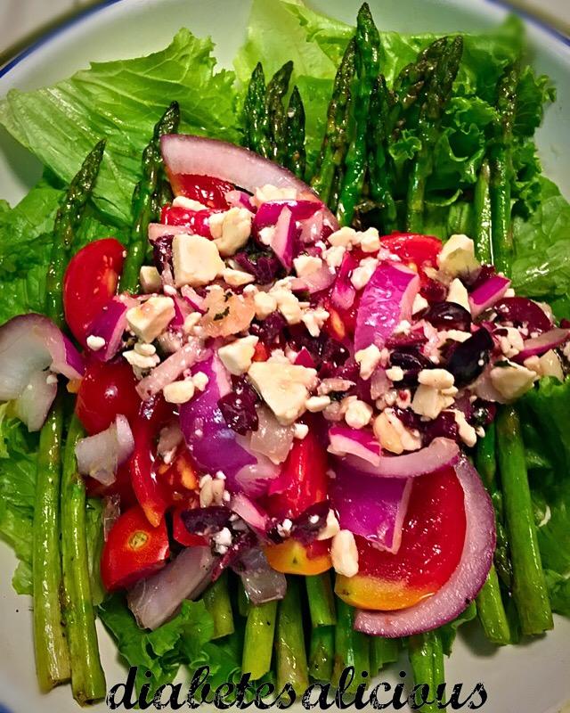 Cookabetes: Grilled Asparagus Salad