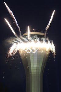 Olympic Rings unveiled on new ATC Tower